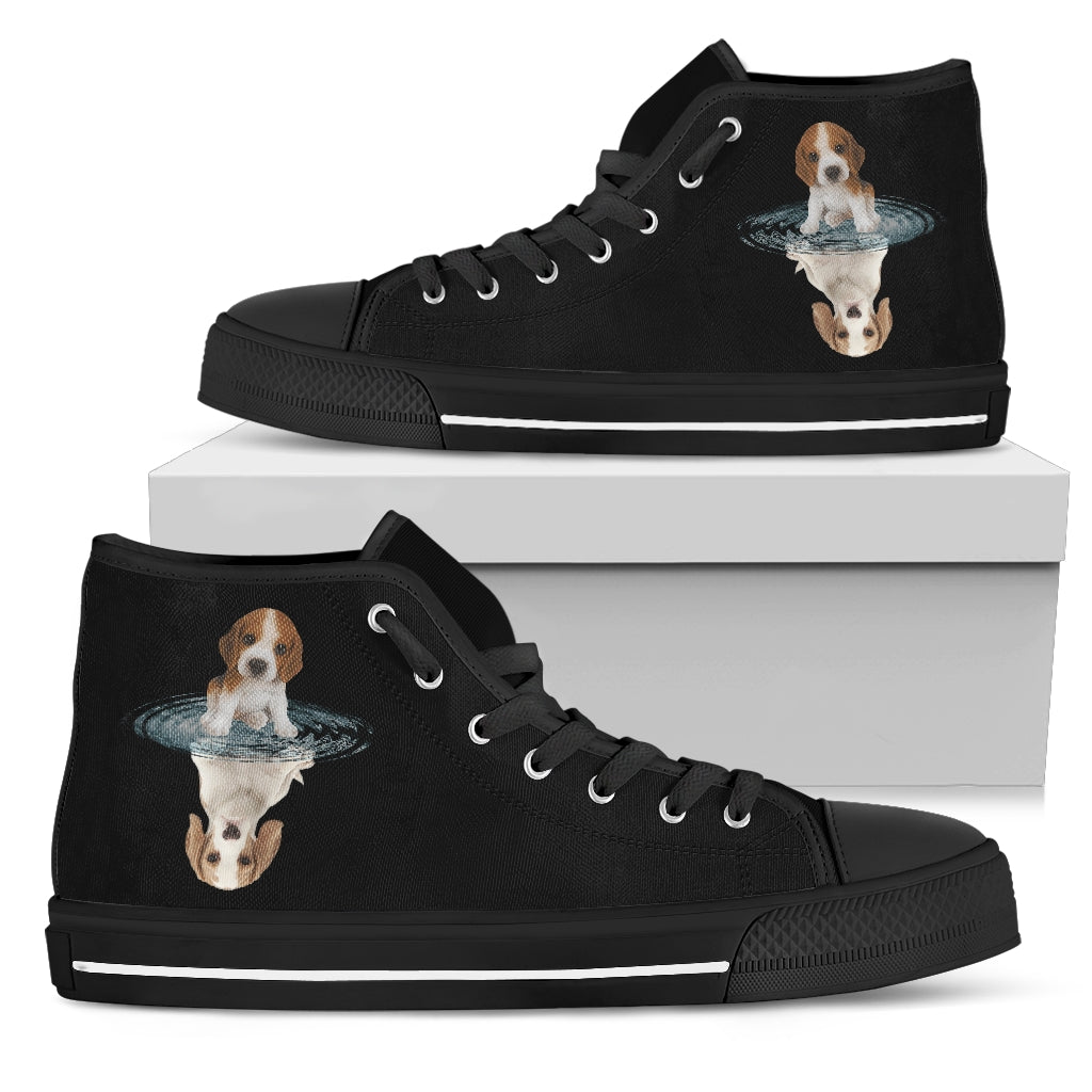 Beagle Dream Reflect Water High Top Shoes