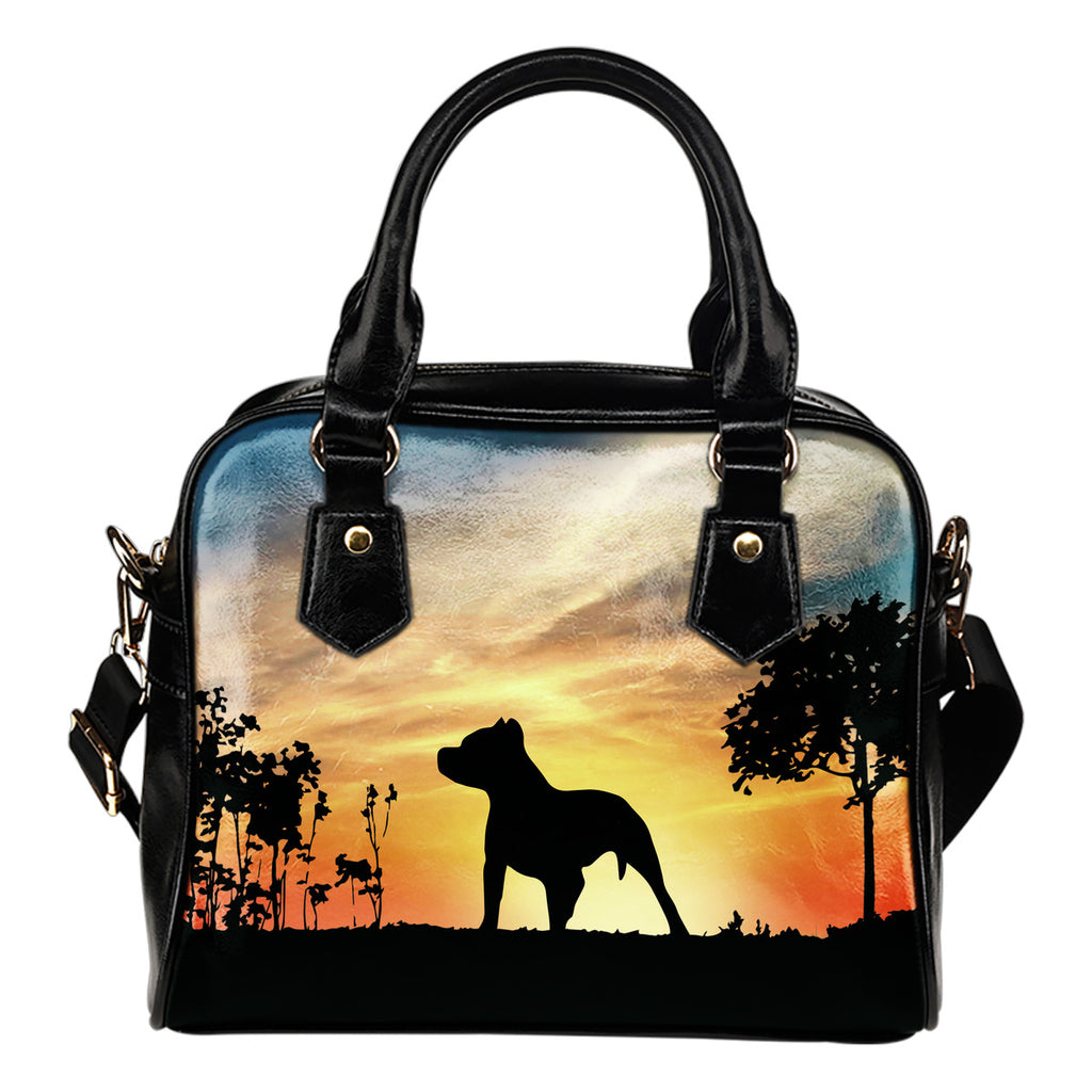 Pitbull Sunshine Silhouette Shoulder Handbags