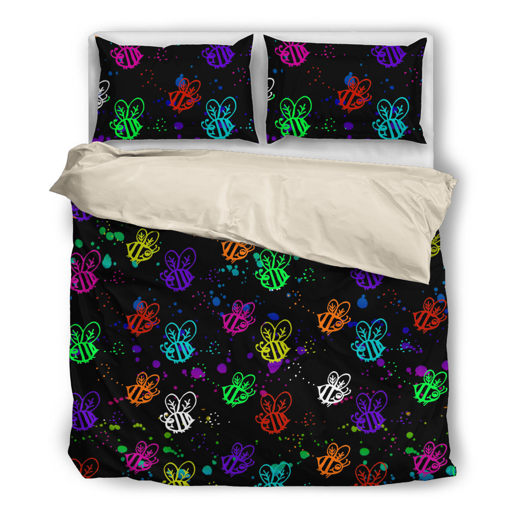 Brusher Bee Colorful Watercolor Random Lovely Bedding Sets