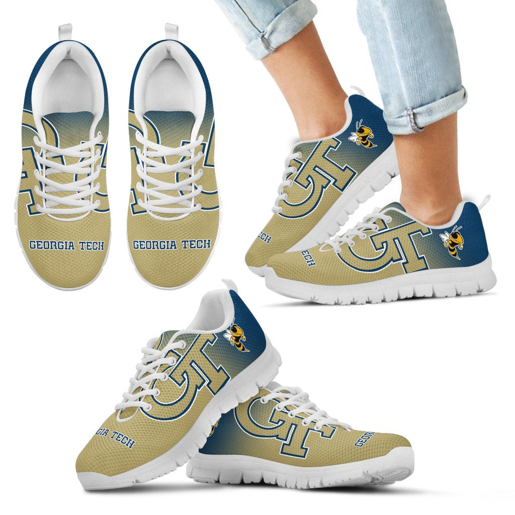 Awesome Unofficial Georgia Tech Yellow Jackets Sneakers