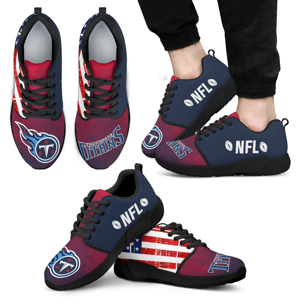 Awesome Fashion Tennessee Titans Shoes Athletic Sneakers