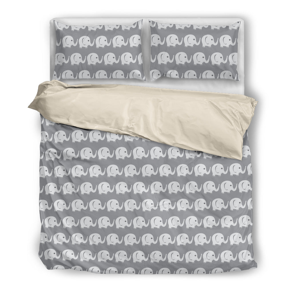 Elephant Blue White Beautiful Charming Attractive Cute Bedding Sets Ver 1
