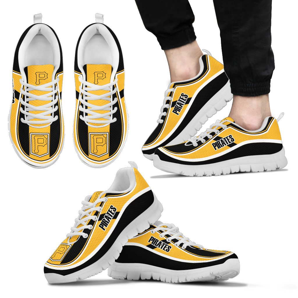 Simple Color Flag Pittsburgh Pirates Sneakers