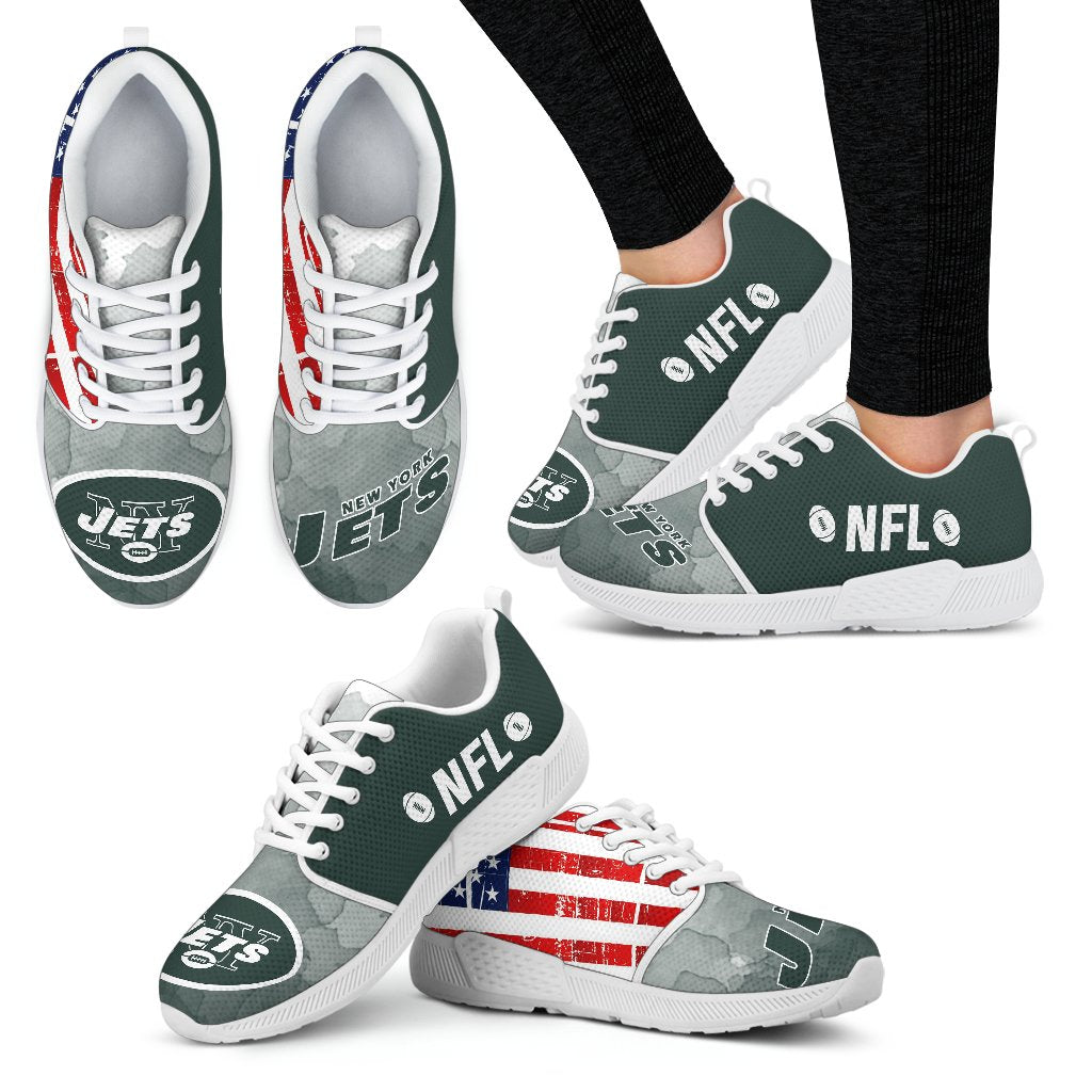 Awesome Fashion New York Jets Shoes Athletic Sneakers