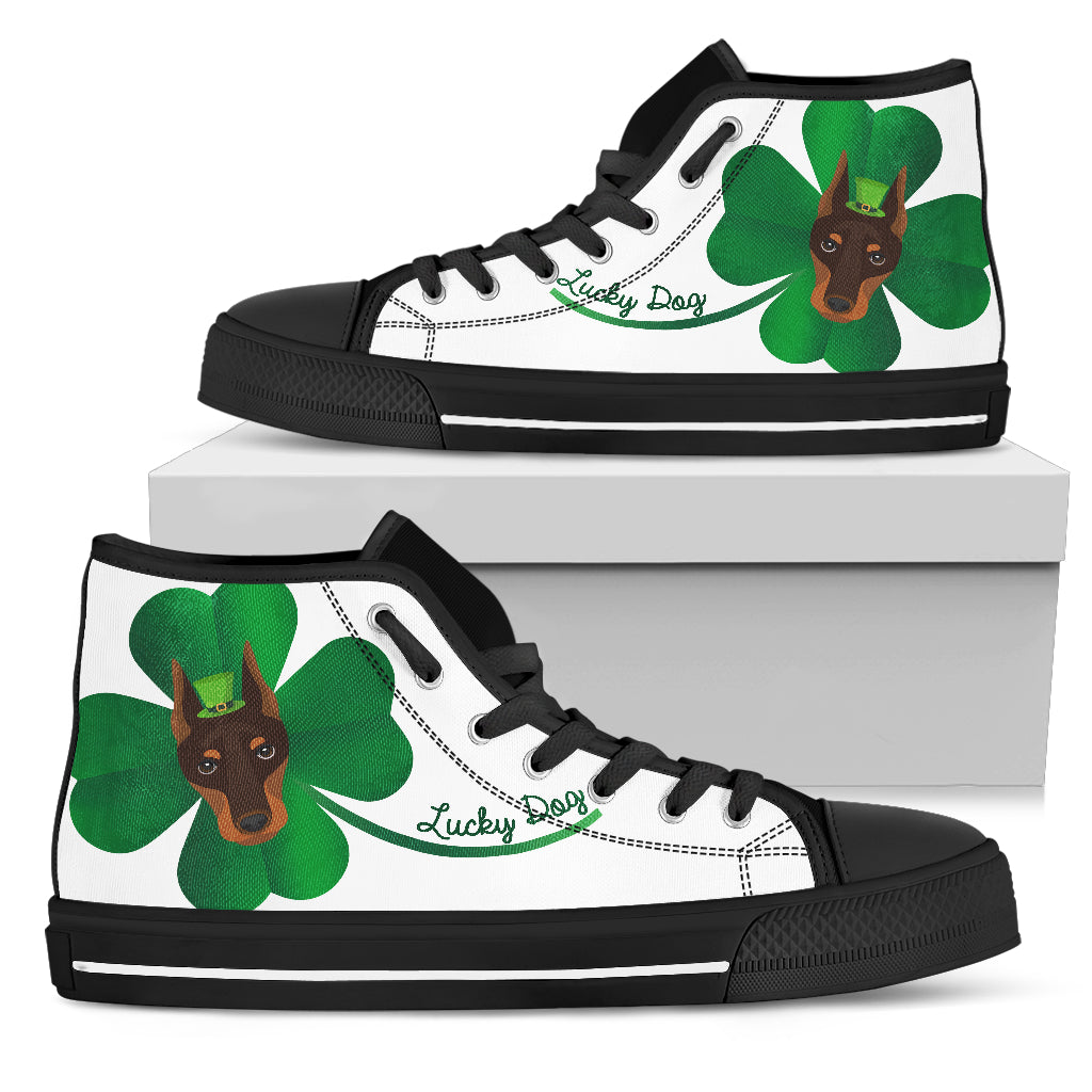 Nice Boberman High Top Shoes - Lucky Dog, is a cool gift for friends