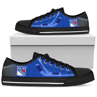 Artistic Scratch Of New York Rangers Low Top Shoes
