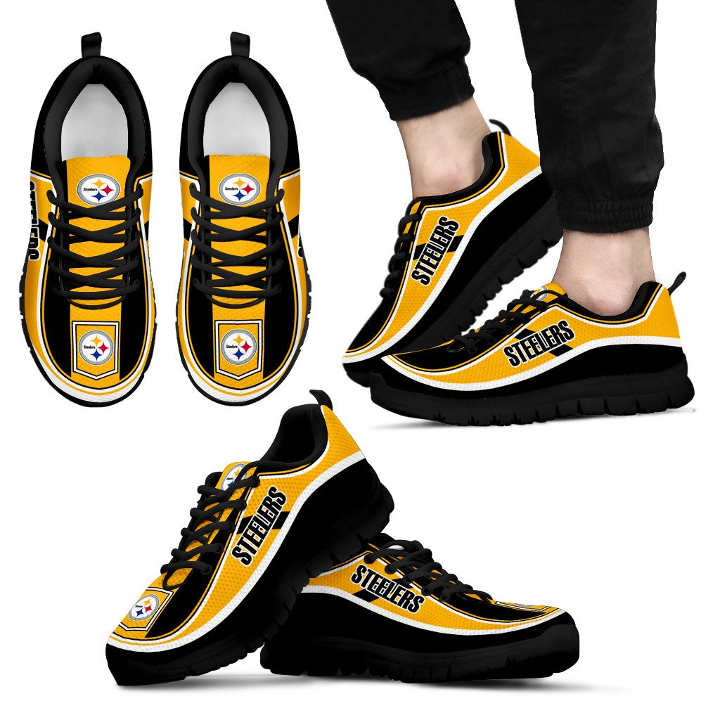Simple Color Flag Pittsburgh Steelers Sneakers