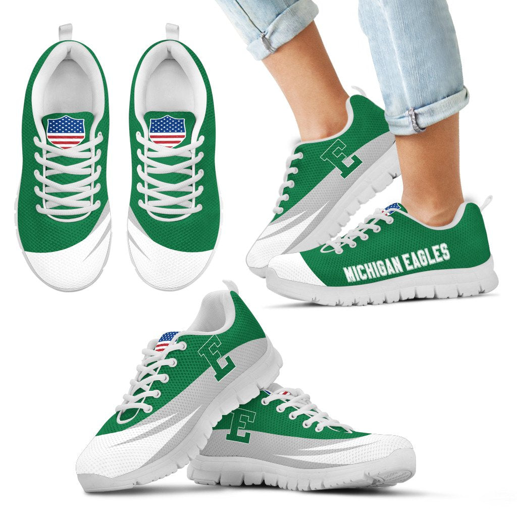 Special Gift Logo Eastern Michigan Eagles Sneakers