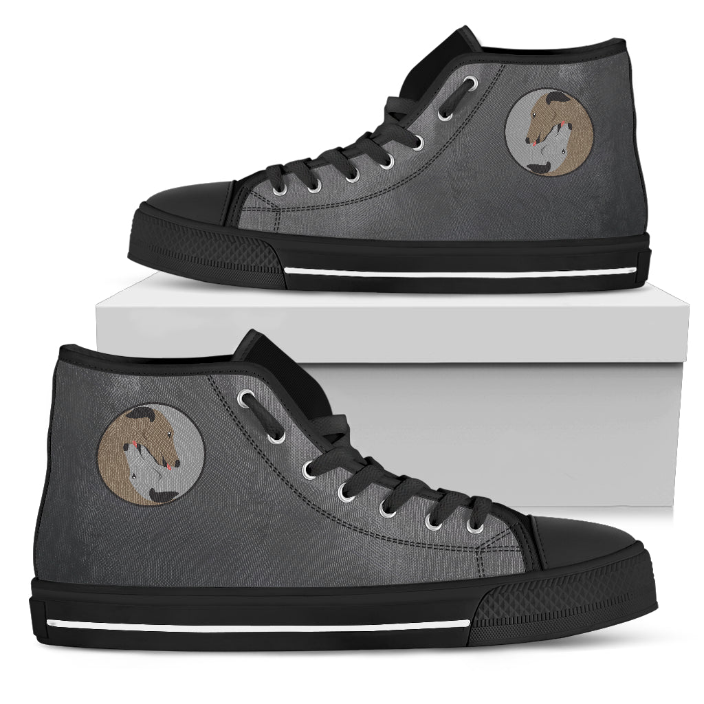 Yin Yang Style Greyhound High Top Shoes