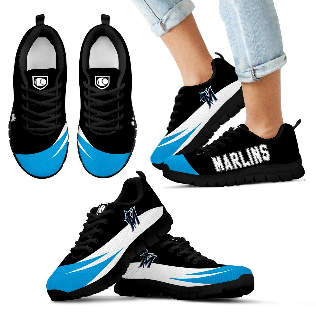 Special Gift Logo Miami Marlins Sneakers