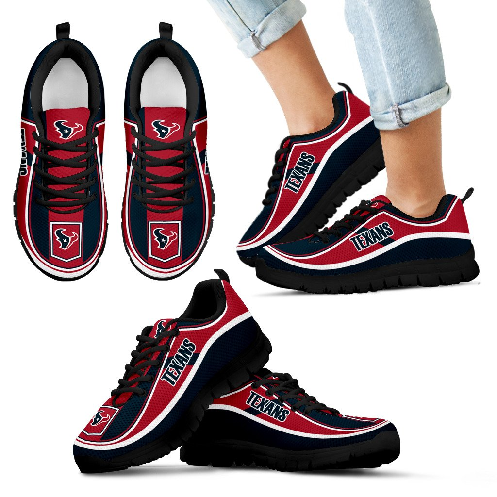 Simple Color Flag Houston Texans Sneakers