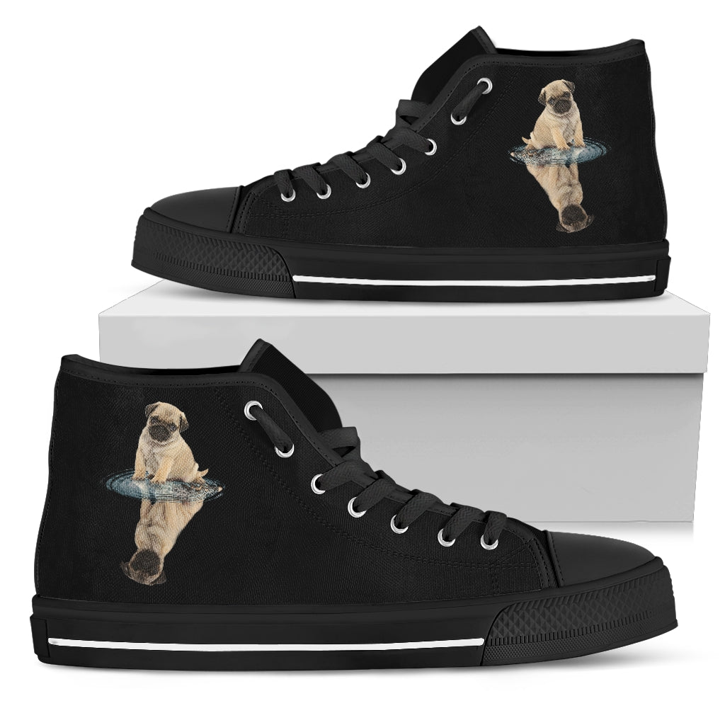 Pug Dream Reflect Water High Top Shoes