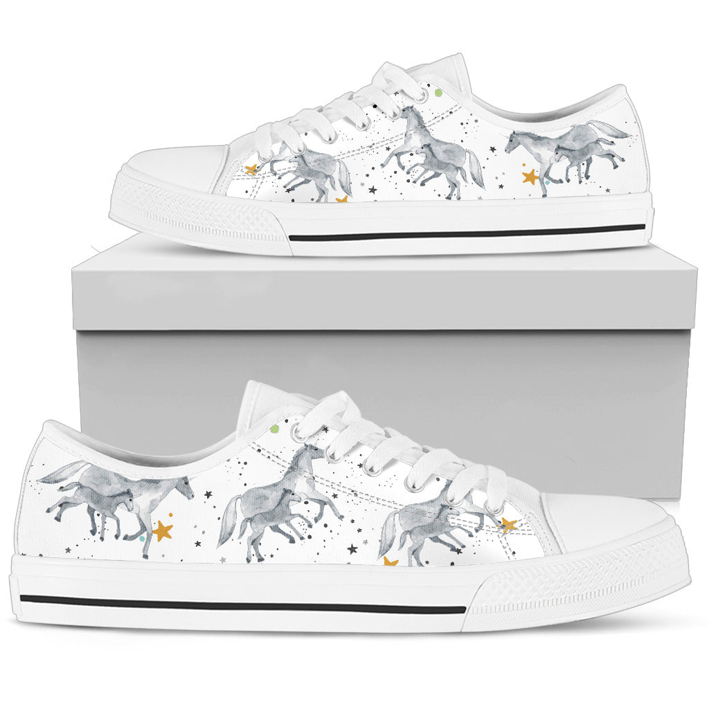 Unicorn Family Pastel And Grey Bunnies Bubbles Cute Low Top Shoes
