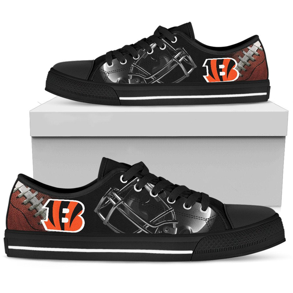 Artistic Scratch Of Cincinnati Bengals Low Top Shoes