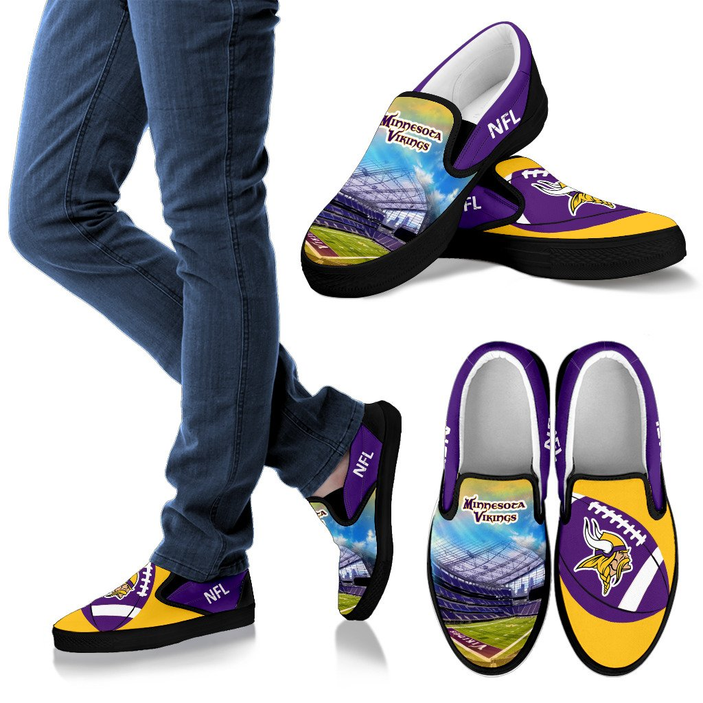 Proud Of Stadium Minnesota Vikings Slip-on Shoes