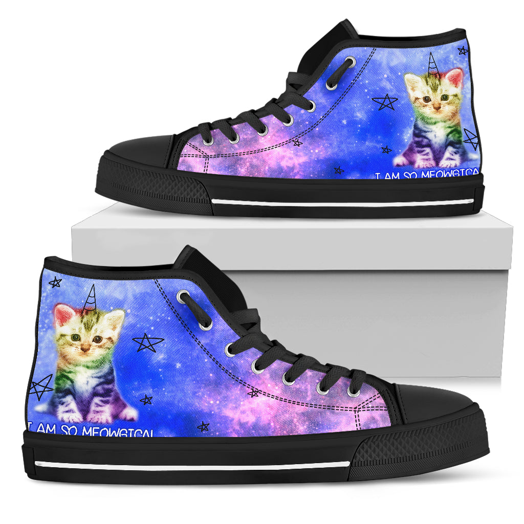 Colorful Cat - I Am So Meowgical High Top Shoes
