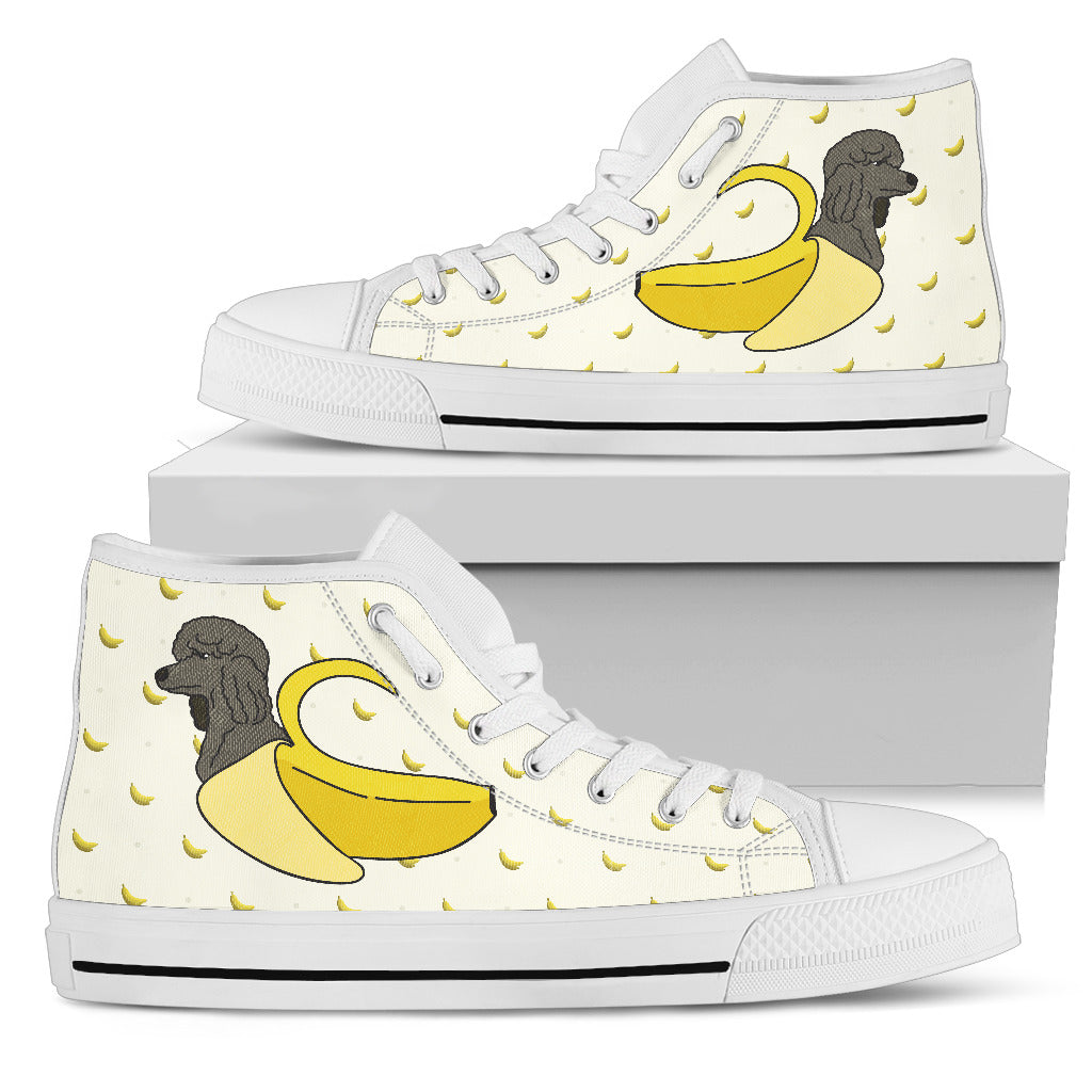 Poodle Inside Banana Funny Gift High Top Shoes