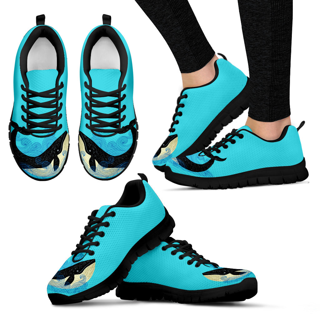 Whale Sneakers Couple Style Beautiful Lovely Fashion Ver 1
