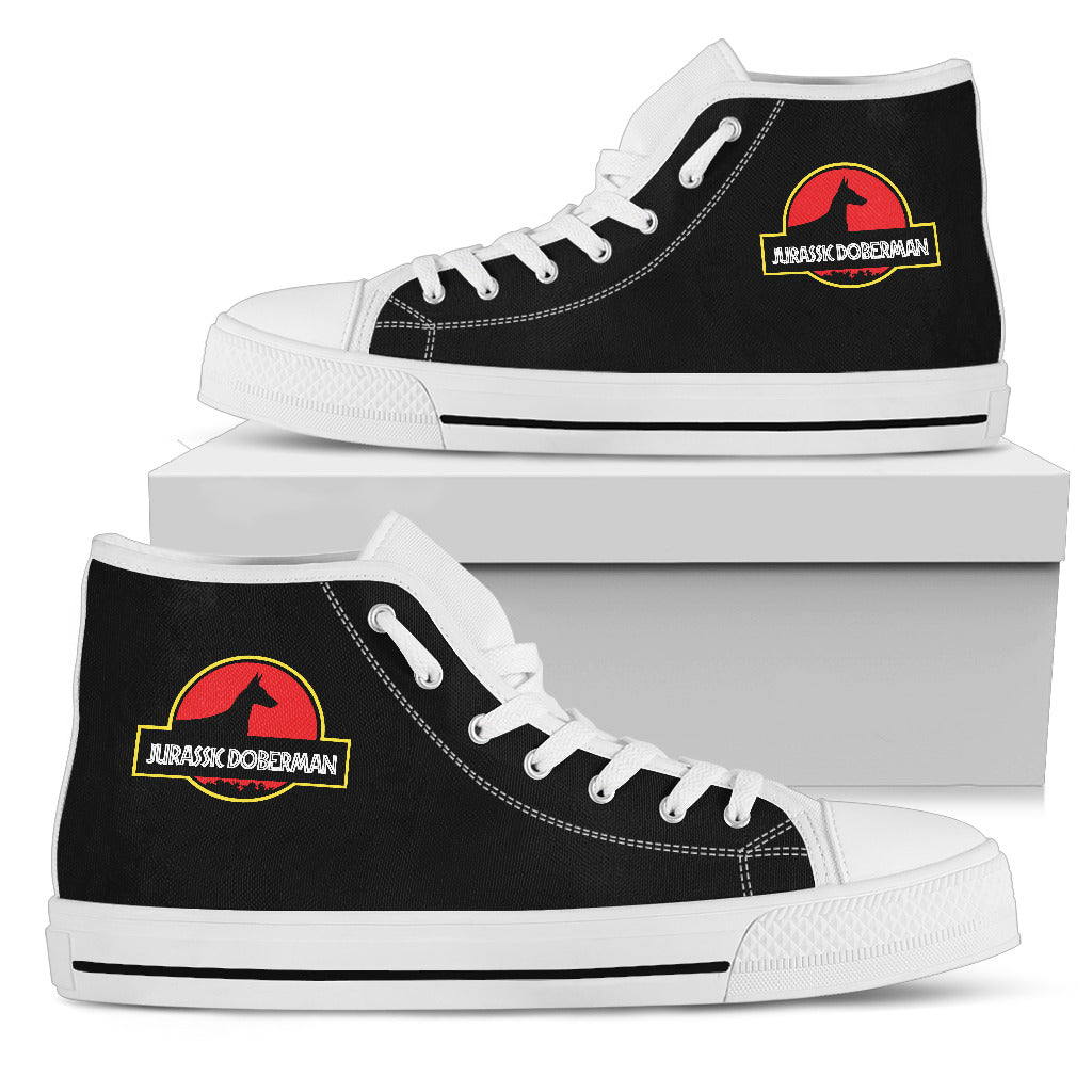 Jurassic Park Doberman High Top Shoes