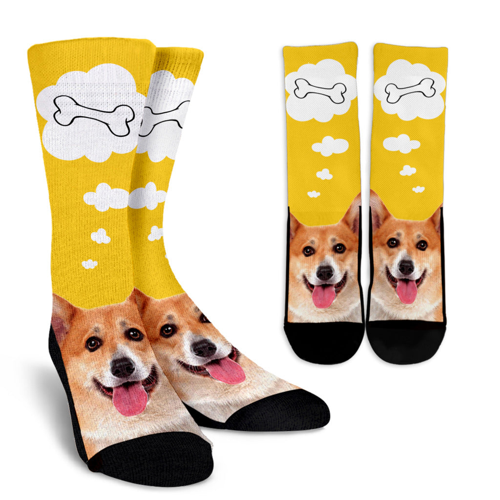 Nice Dog Socks - Corgi Face 3D Print Socks, is nice gift for friends