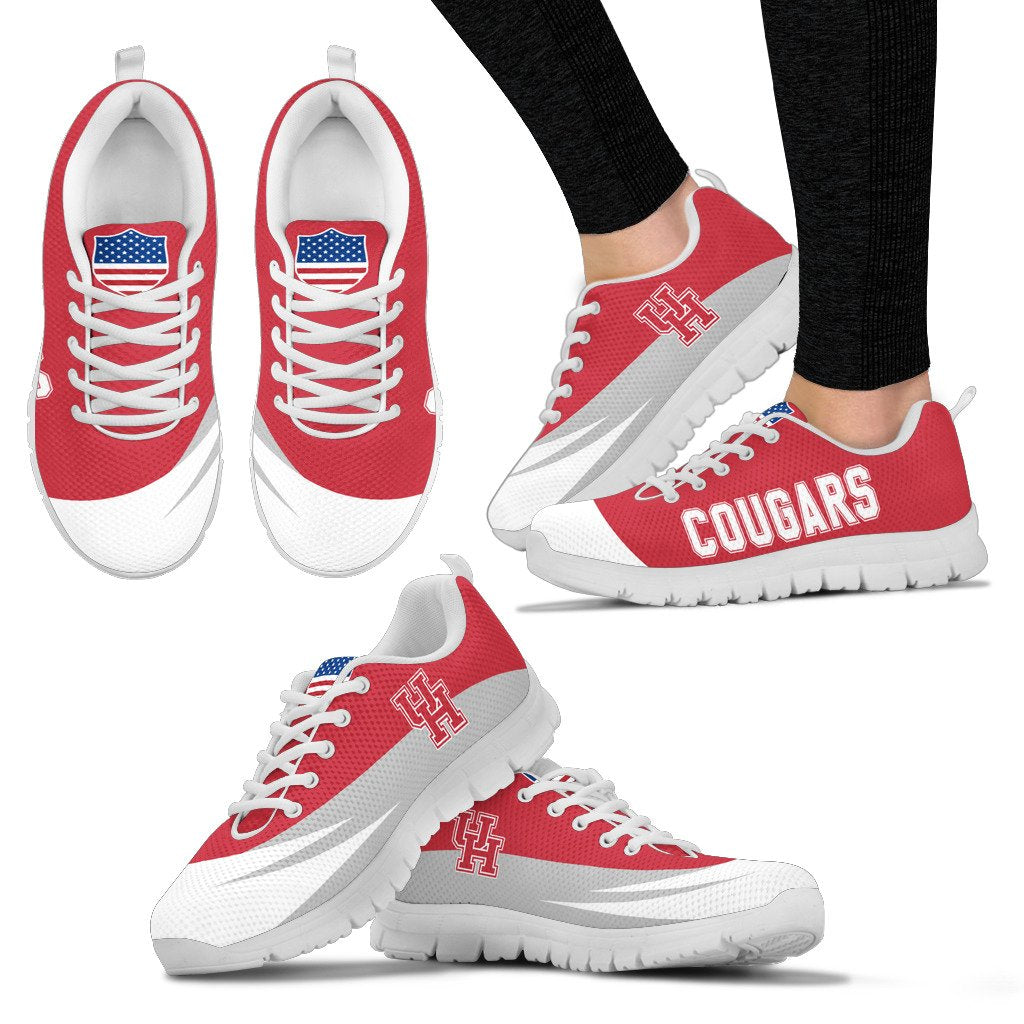 Special Gift Logo Houston Cougars Sneakers
