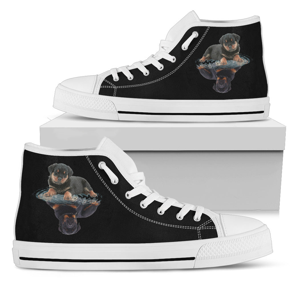Rottweiler Dream Reflect Water High Top Shoes