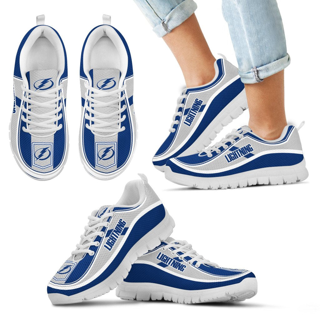 Simple Color Flag Tampa Bay Lightning Sneakers