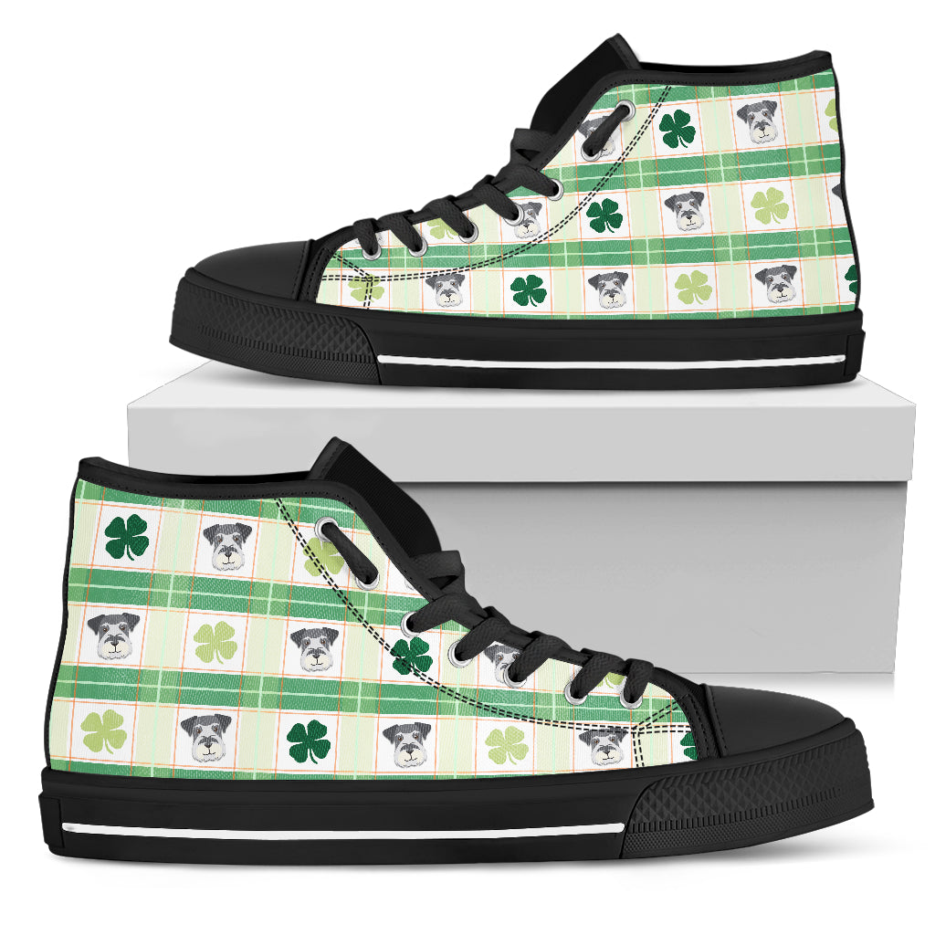 Shamrock With Schnauzer High Top Shoes