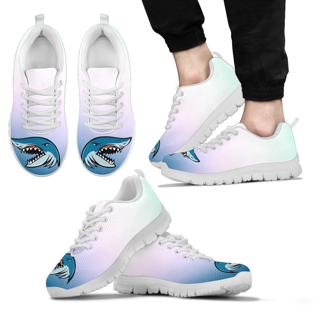 Shark Angry Under Water Ocean Cool Sneakers