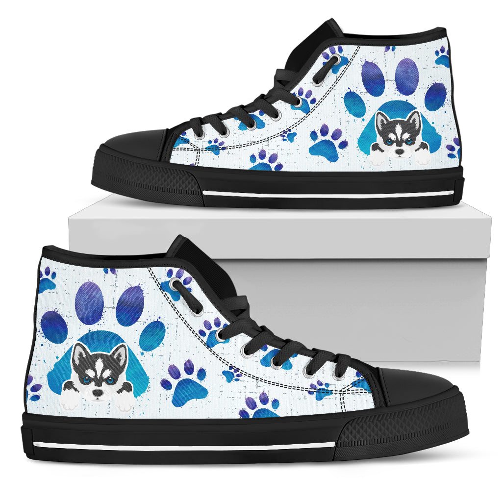 Husky Paws High Top Shoes