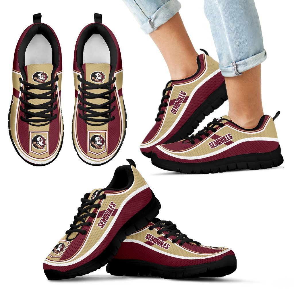 Simple Color Flag Florida State Seminoles Sneakers
