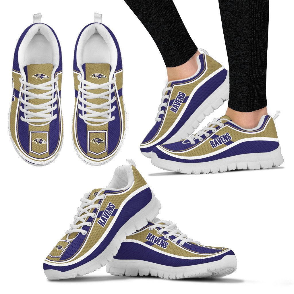 Simple Color Flag Baltimore Ravens Sneakers