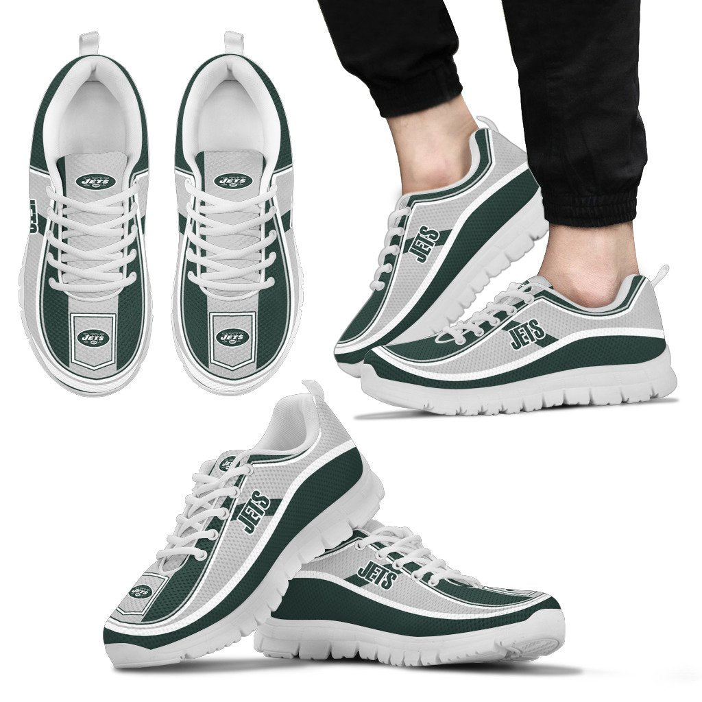Simple Color Flag New York Jets Sneakers