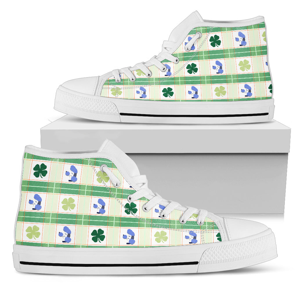 Shamrock With Poodle High Top Shoes