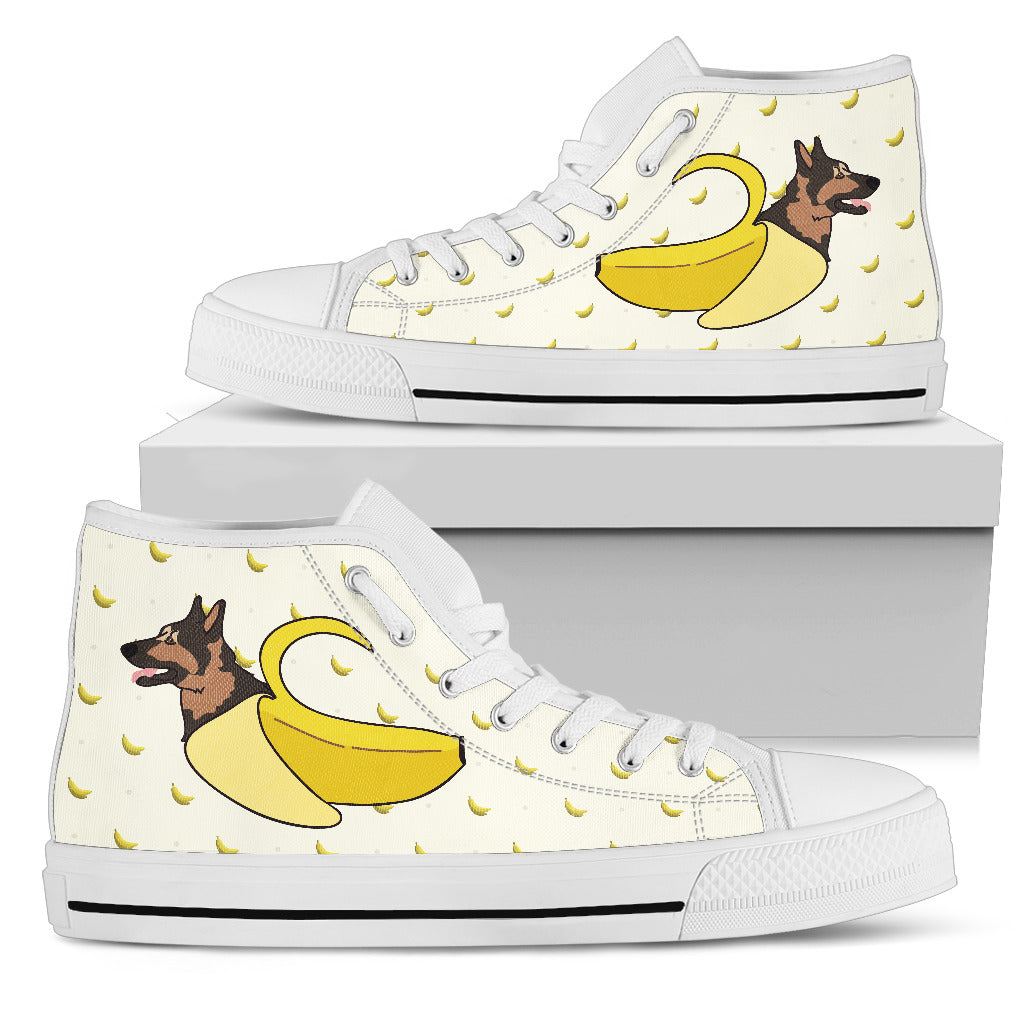 German Shepherd Inside Banana Funny Gift High Top Shoes