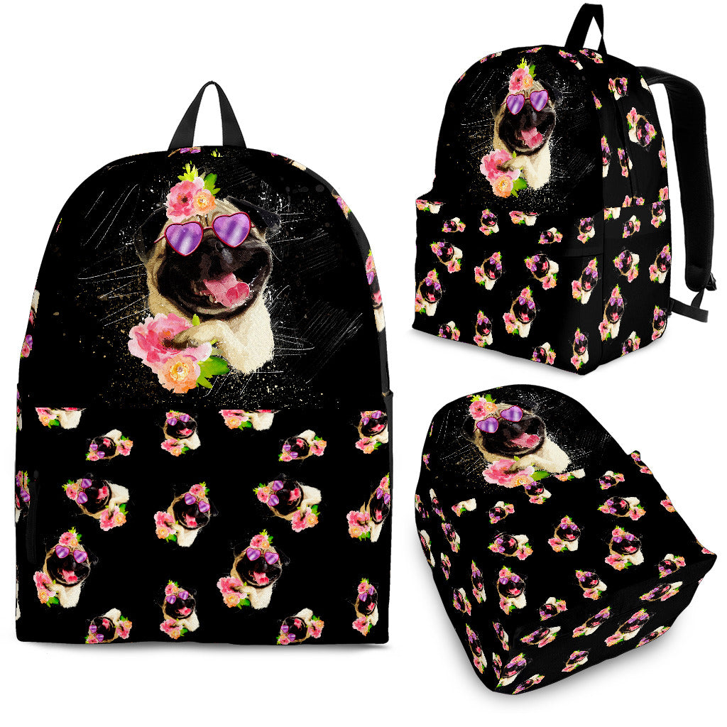 Pug Flower Backpacks
