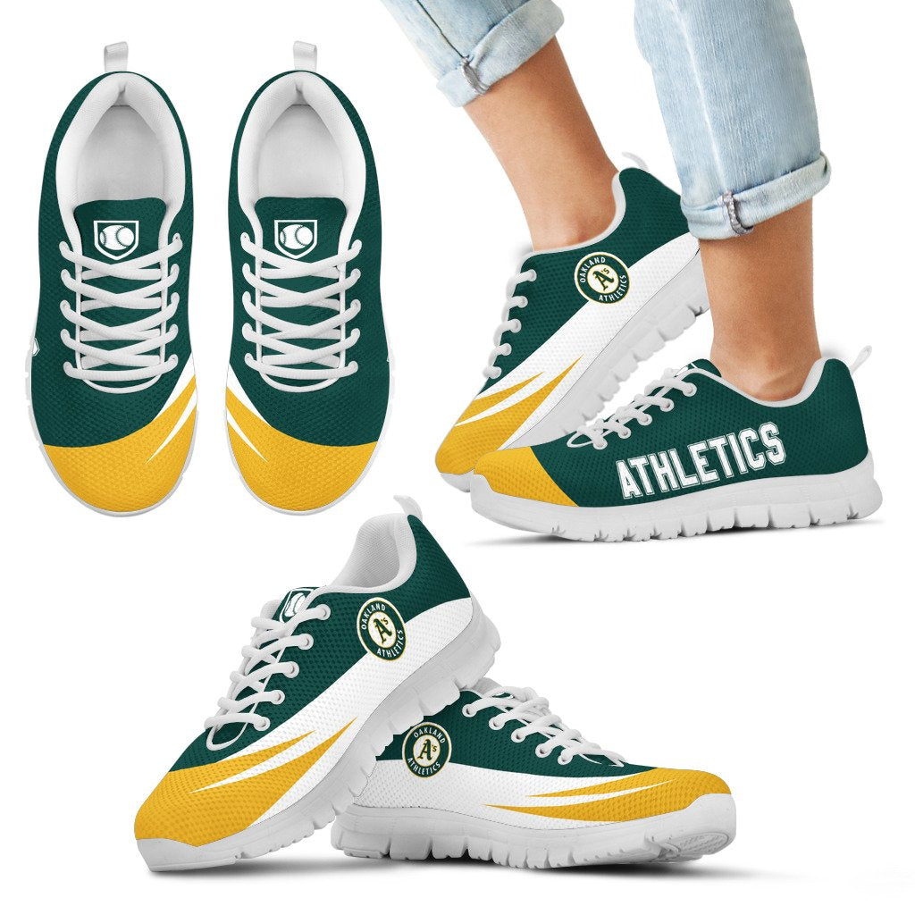 Special Gift Logo Oakland Athletics Sneakers