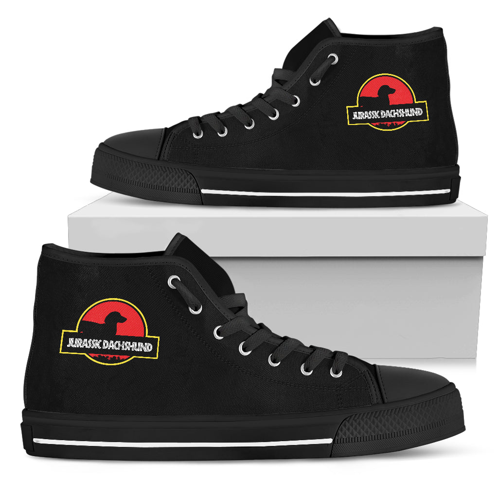 Jurassic Park Dachshund High Top Shoes