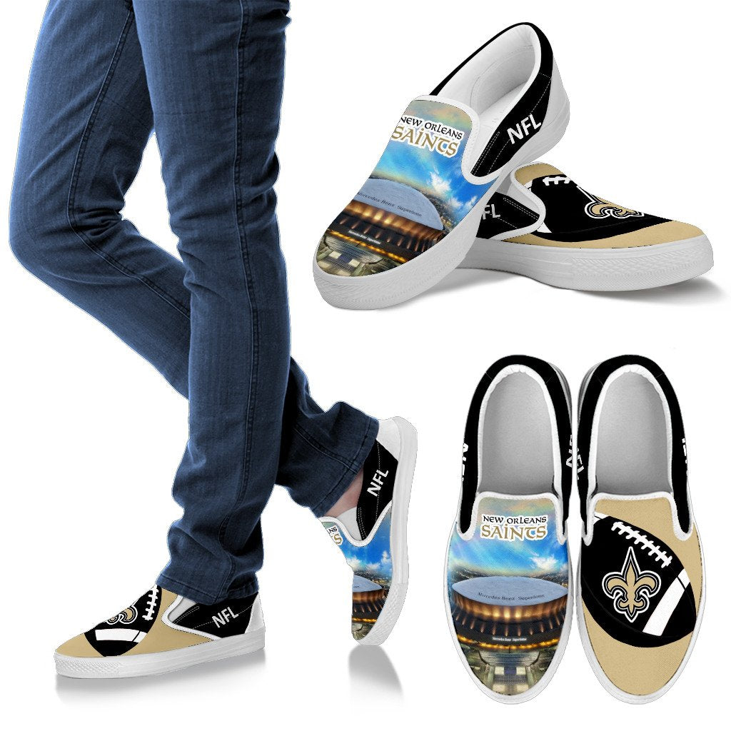 Proud Of Stadium New Orleans Saints Slip-on Shoes