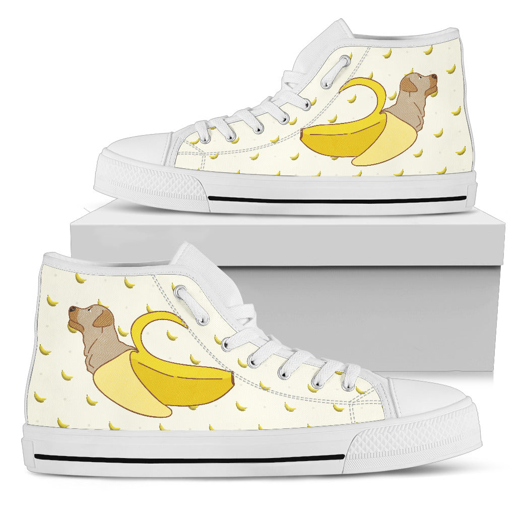 Labrador Inside Banana Funny Gift High Top Shoes