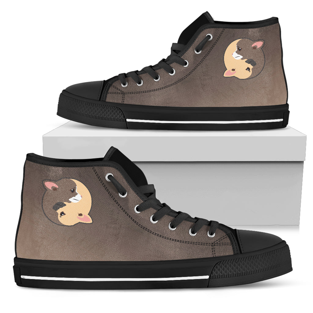 Yin Yang Style Chihuahua High Top Shoes