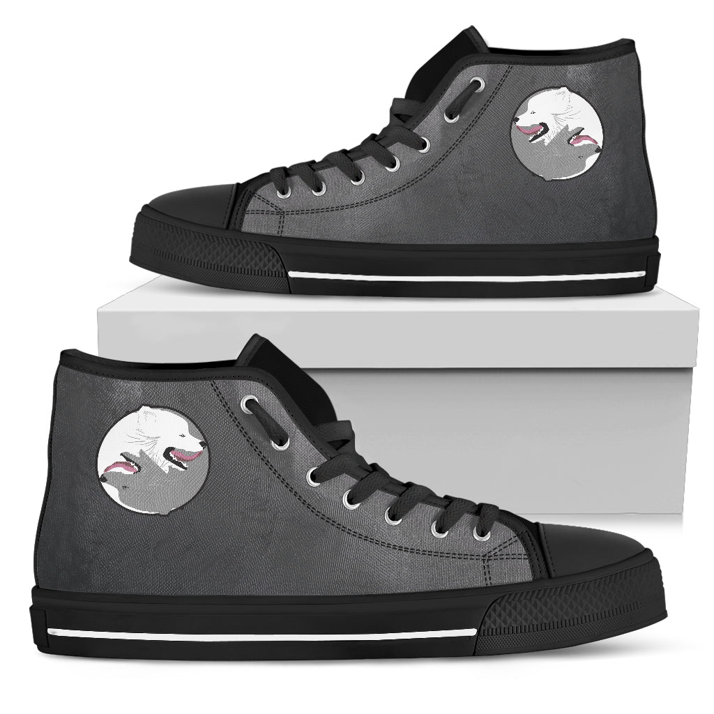 Yin Yang Style Samoyed High Top Shoes