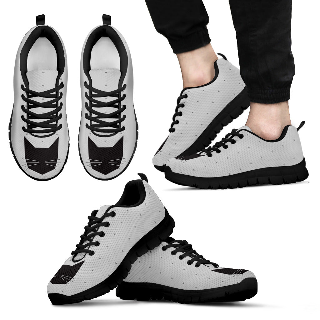 Cat Black Pink White Lovely Cat Couple Charming Fabulous Sneakers Ver 2