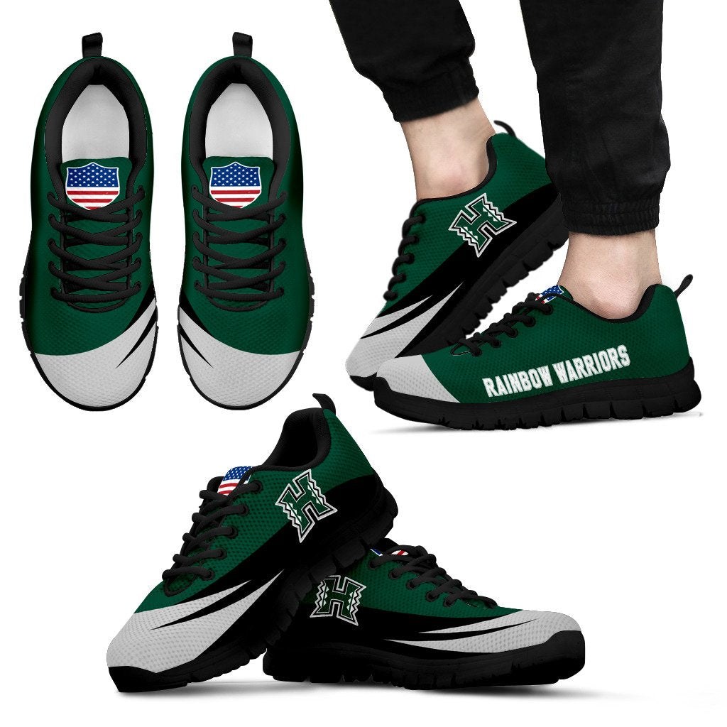 Special Gift Logo Hawaii Rainbow Warriors Sneakers