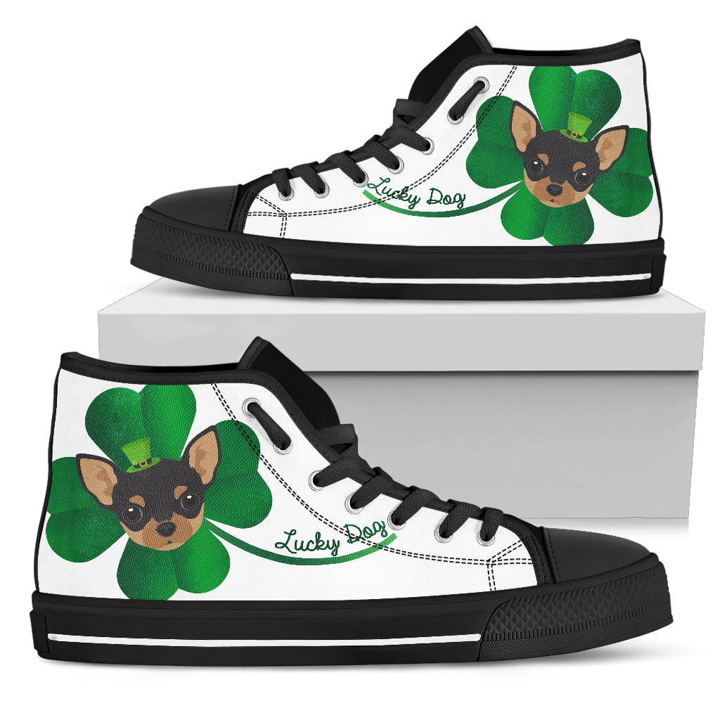 Nice Chihuahua High Top Shoes - Lucky Dog, is a cool gift for friends