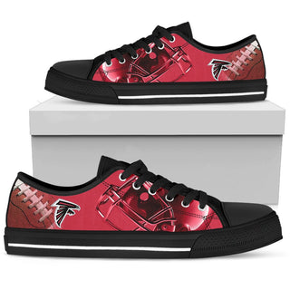 Artistic Scratch Of Atlanta Falcons Low Top Shoes