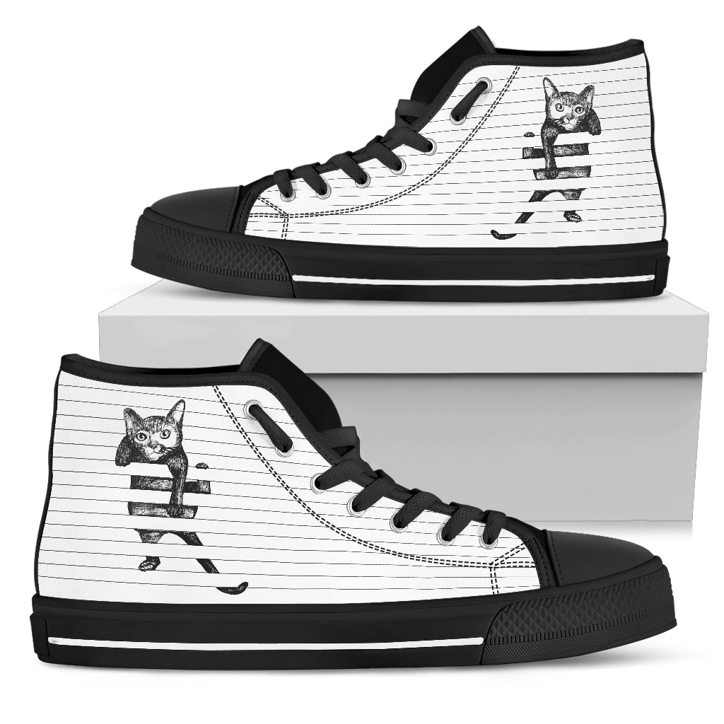 Nice Cat High Top Shoes - Cat Hanging, is cool gift for friends