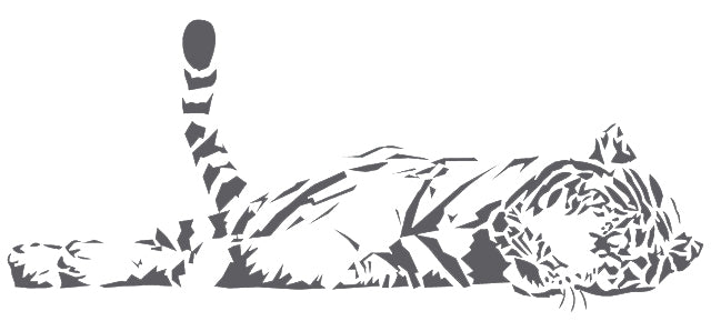 Big Cat Sleepping Wall Stickers