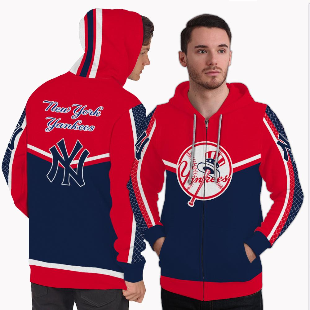 Strong Gorgeous Fitting New York Yankees Zip Hoodie