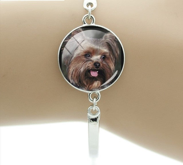 Cute Retriever Luby Brown Labrador Retriever Greyhound Round Glass Bracelets
